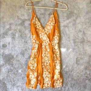 Blue life orange mini dress